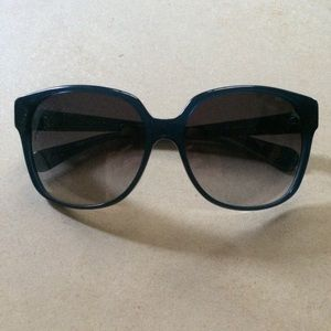 DVF Oversized Dark Blue Sunglasses